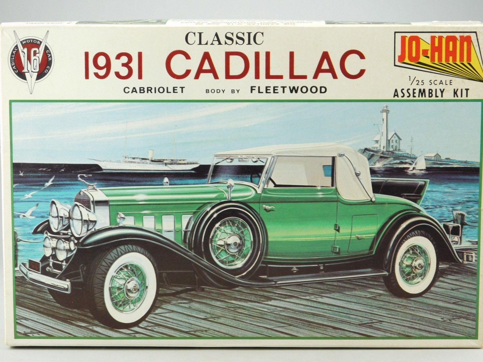 1 25 Scale Model Kit Vintage Jo Han GC 431 1931 Cadillac Cabriolet ...