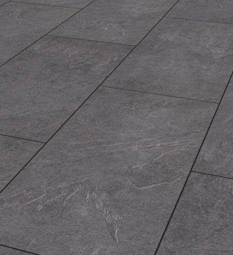 Mustang slate 8mm tile effect laminate flooring antique for Tile effect laminate flooring