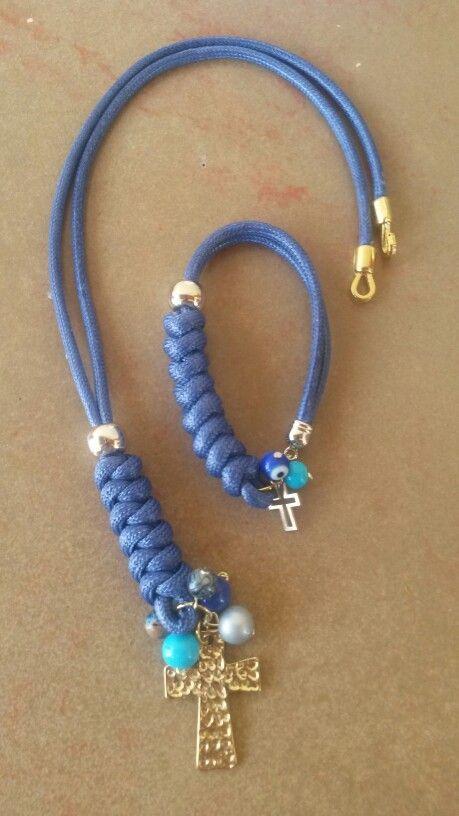 e1866a549b07 Collar trenzado azul rey. Piel de serpiente Instagram  darstylos ...