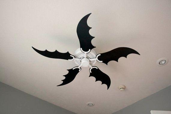 Batwing Fan Blades Goth Home Decor
