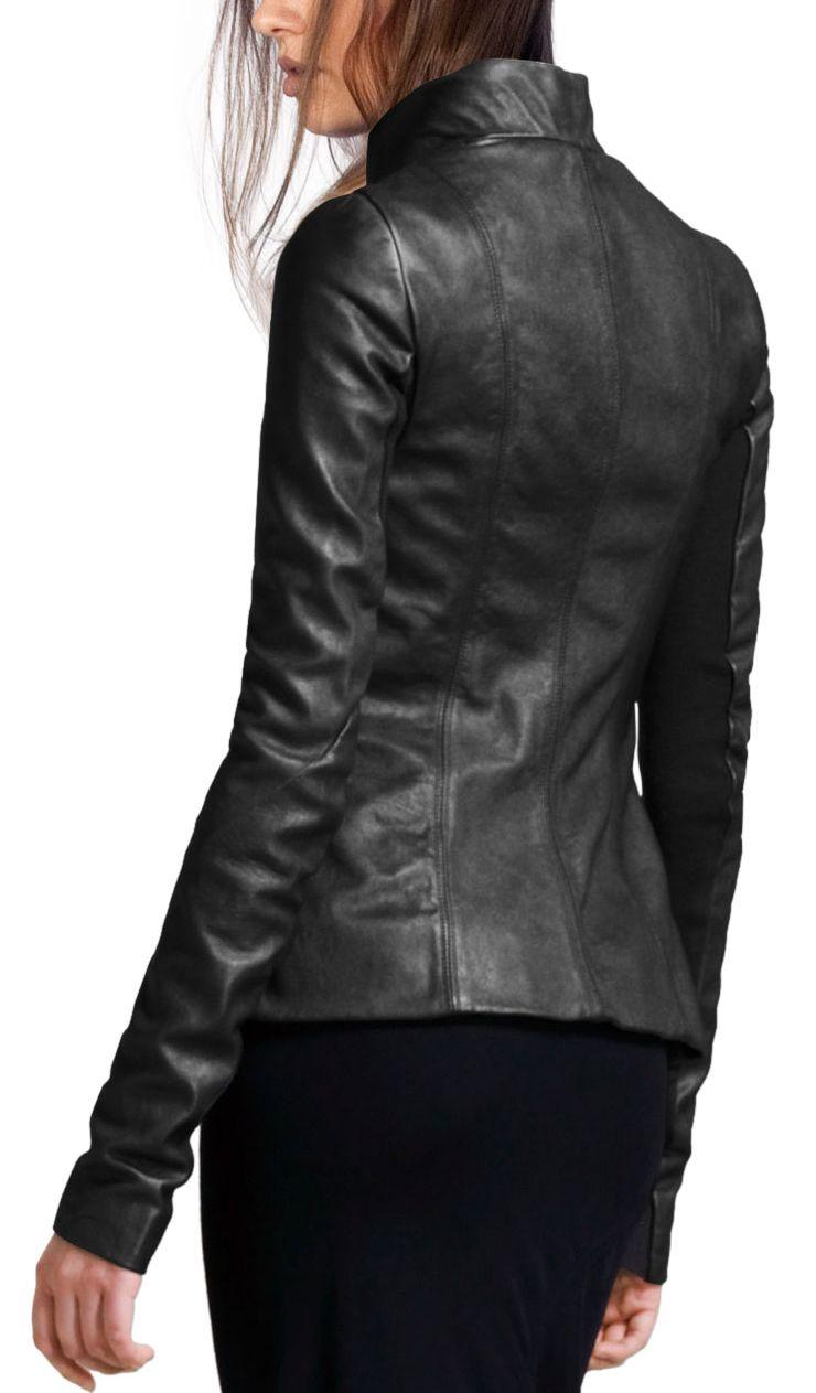 Simple Polo Style Jackets Women Polo Style Leather Jacket Leather Jackets Women Leather Outfit Leather Jacket [ 1263 x 740 Pixel ]