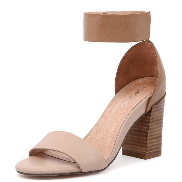 Top End Canny Nude/Tan (1 640 ZAR) ❤ liked on Polyvore featuring shoes, nude shoes, open toe shoes, tan leather shoes, nude ankle strap shoes and wide shoes