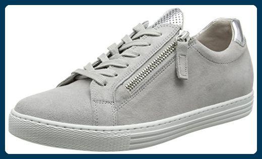 Gabor Shoes Damen Comfort Sneaker, Grau (Light GreyArgento