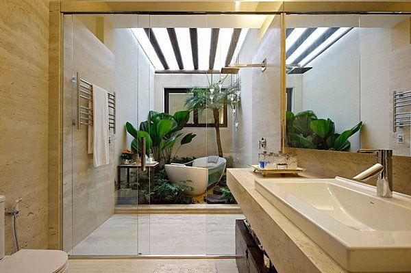 12 idées déco de salle de bain au style tropical Idées Déco Salle - decoration salle de bain moderne