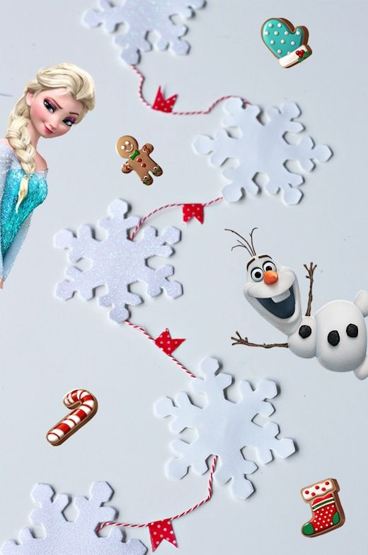 Regali Di Natale Frozen.Diy Snowflake Garland Chain Inspired By Frozen Free Fall