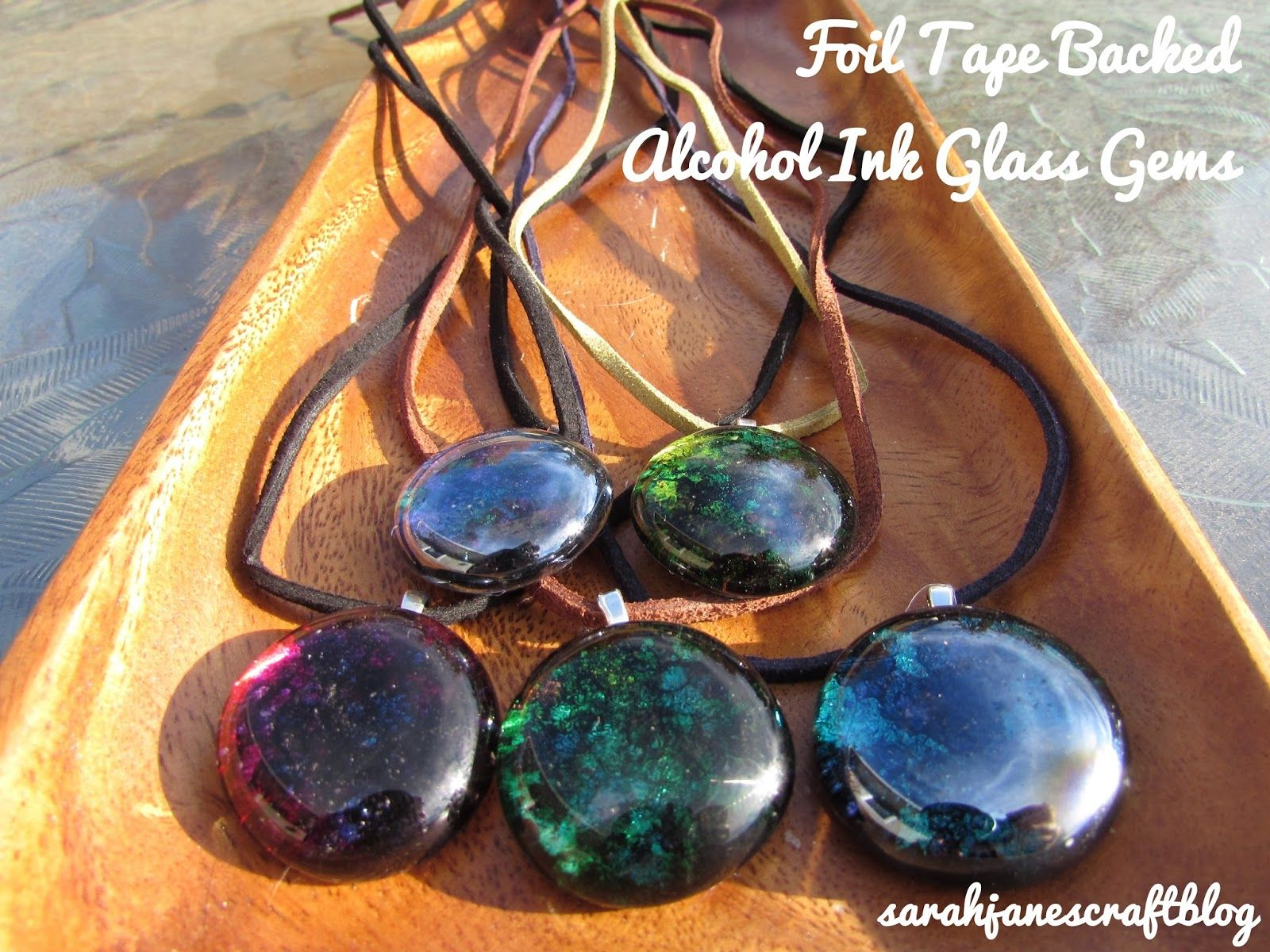 Flat glass marbles crafts - Diy Craft Tutorial For Alcohol Ink Decorated Glass Gem Flat Marbles Backed With Foil Tape And