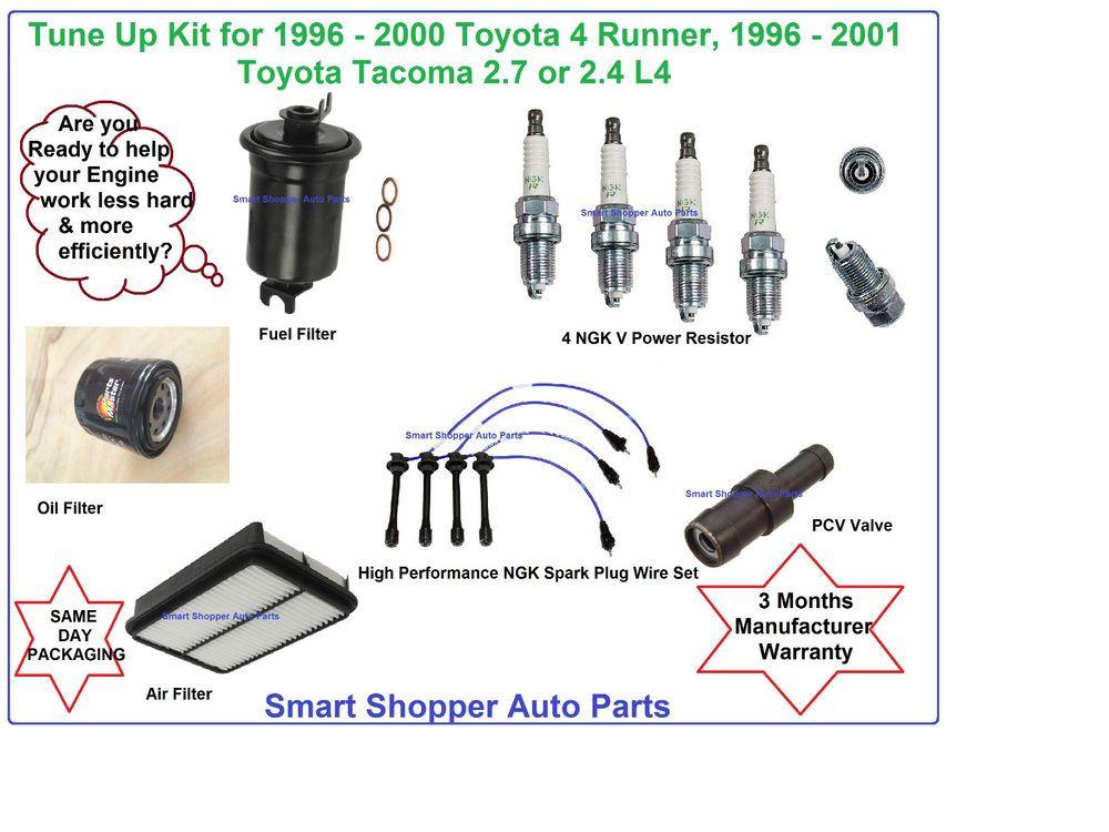 1996 2000 toyota 4 runner tacoma tune up kit air oil fuel filter 1994 4Runner