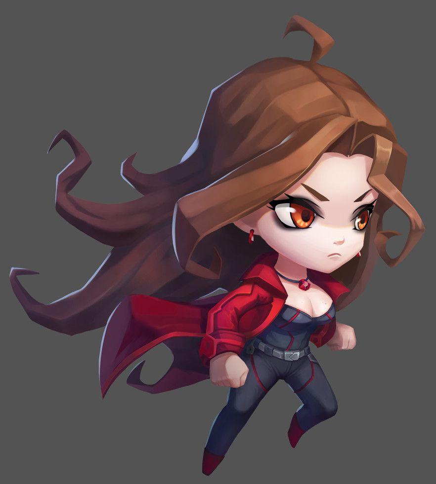 Artstation Scarlet Witch Lydia Qx Comic Books Scarlet Witch