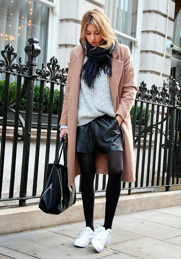 10 Looks diferentes pra você usar com meia calça   Idéias de