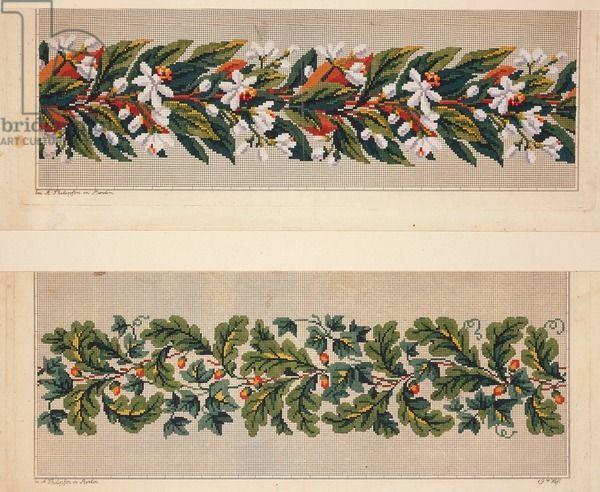 Hem Berlin hem pattern with flowers hem pattern with and oak
