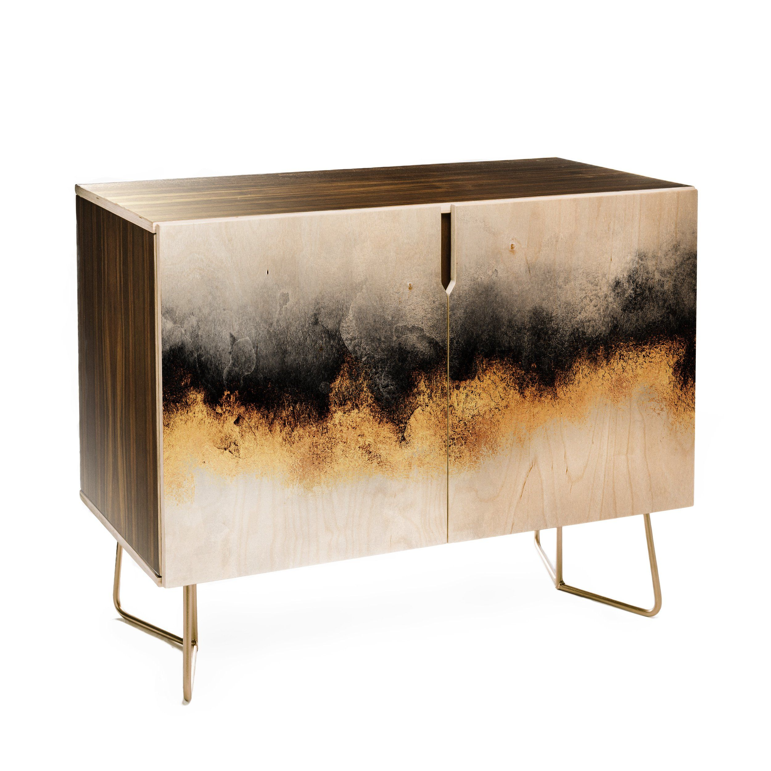 Black And Gold Sky Credenza Elisabeth Fredriksson With Images