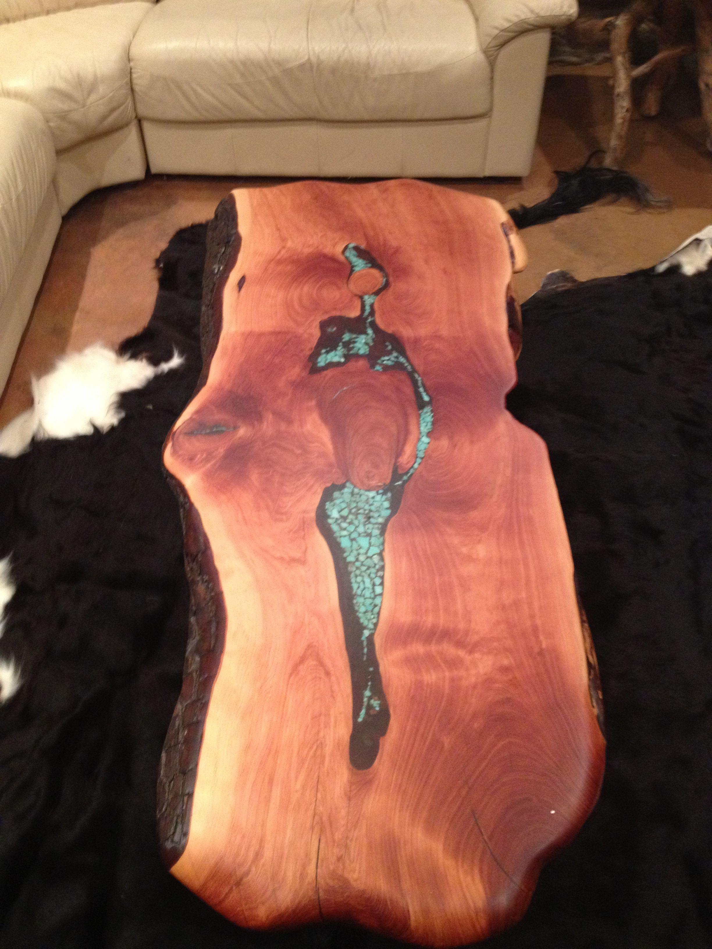 Elegant Live Edge Furniture. Live Edge Coffee Table. Made With Natural Alligator  Juniper Wood.