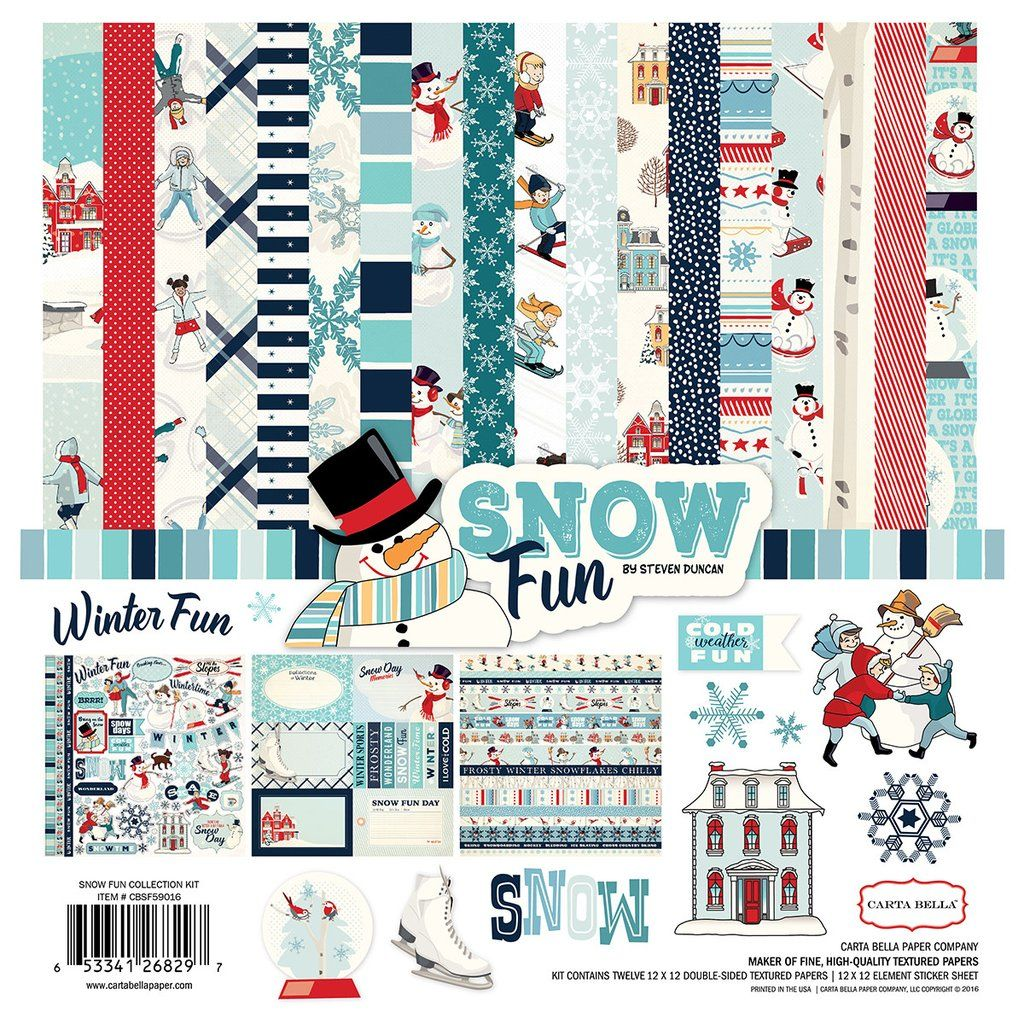 Carta Bella Collection Kit 12x12 Snow Funhttpswww