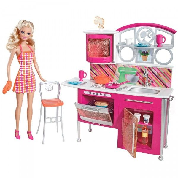 Barbie modern kitchen - love this!