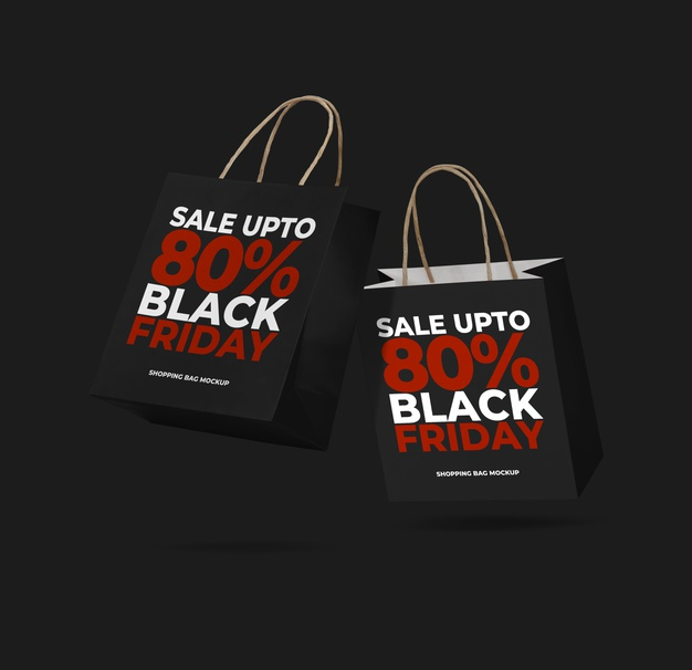 Download Black Friday Sales With Shopping Bag Mockup Bag Mockup Black Friday Black Friday Sale