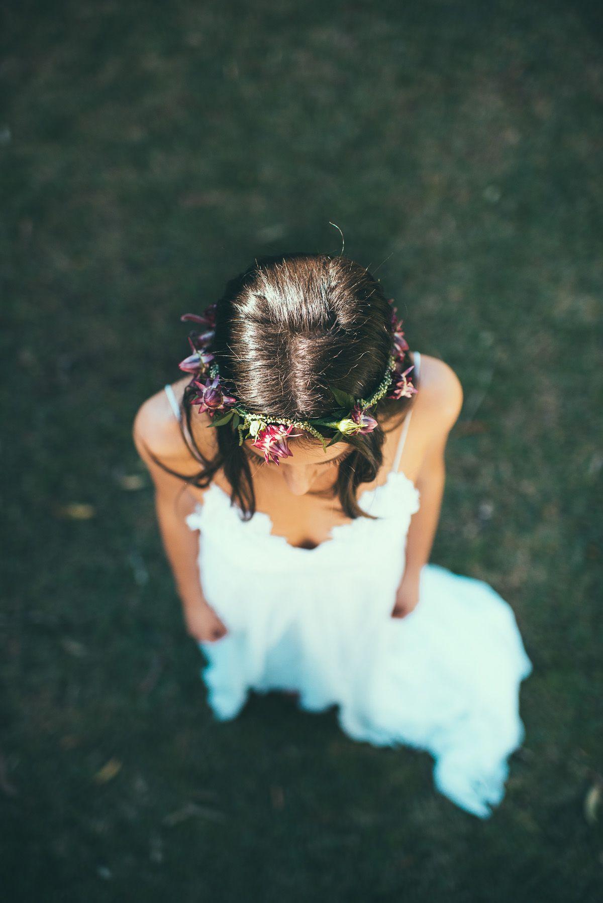 Lace wedding dress low back  native flower crown boho wedding dress low back lace wedding dress