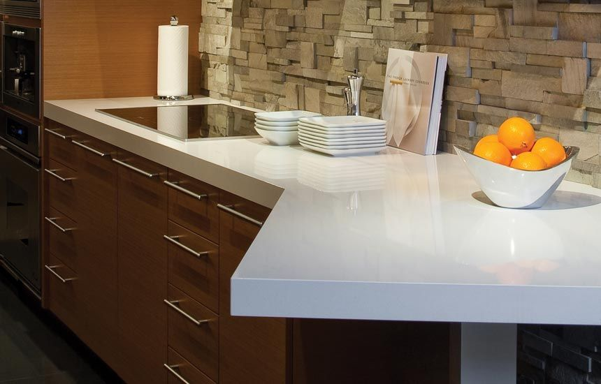 White Laminate Kitchen Countertops floform, cambria cliff coutner | stephane & karina | pinterest