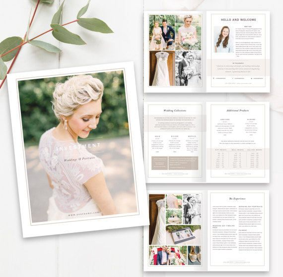 Wedding Photographer Magazine Template - Photo Studio Magazine - wedding price list