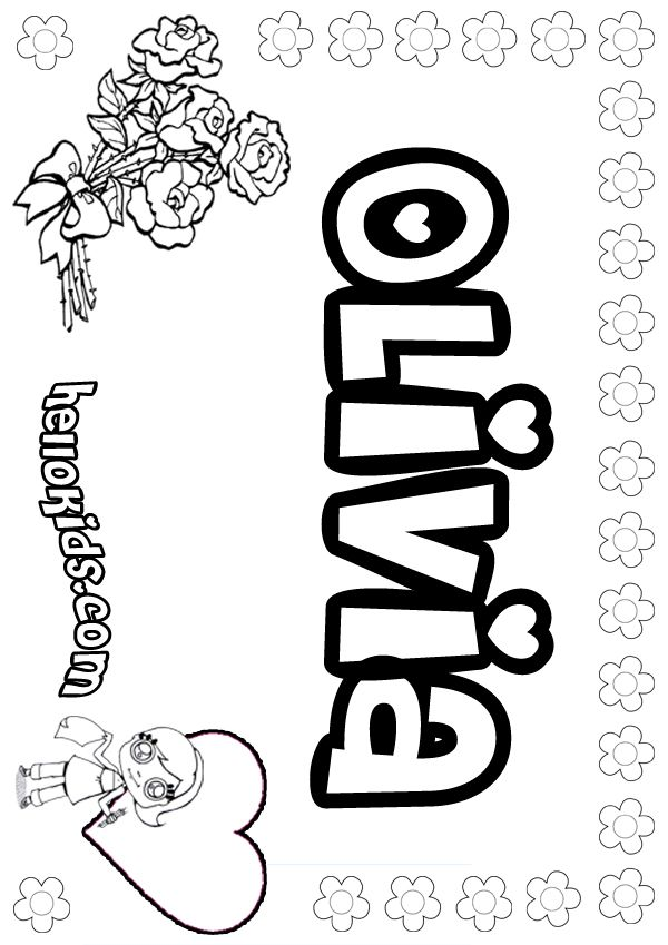 photo regarding Printable Name Coloring Pages named Olivia coloring site Pass up.Diva Reputation coloring web pages
