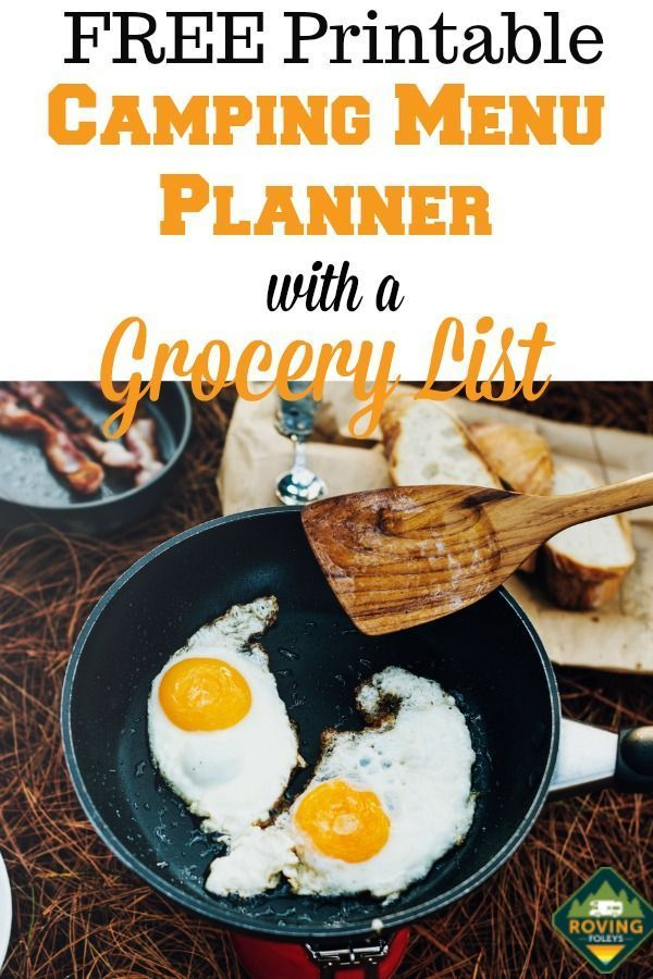 Camping Grocery List Template PLUS Menu Planner (FREE Printables)