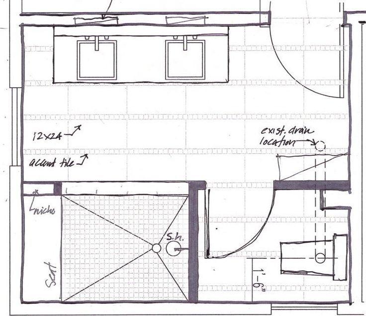 Contemporary Master Bathroom Floor Plans With No Tub Designs Master Bathroom Plans Bathroom Plans Bathroom Floor Plans