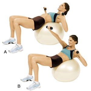 the ball is your best friend from abs to leg and arm work
