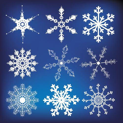 different snowflakes mix design vector material 03 vector other free download