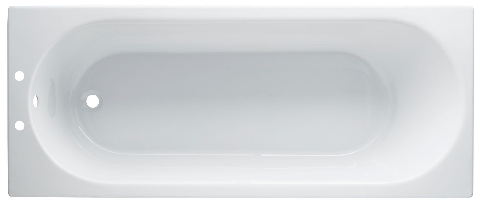Cooke Lewis Shaftesbury Acrylic Rectangular Straight Bath L 1600mm W 700mm Departments Diy At B Q Straight Baths Bath Bathroom Layout
