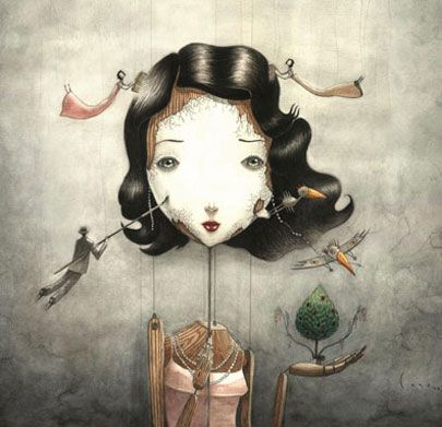 Los Intereses Creados Jacinto Benavente Fragmento Y En Ellas Visteis Como En Las Farsas De La Vida Que A Es Producción Artística Ilustraciones Marioneta