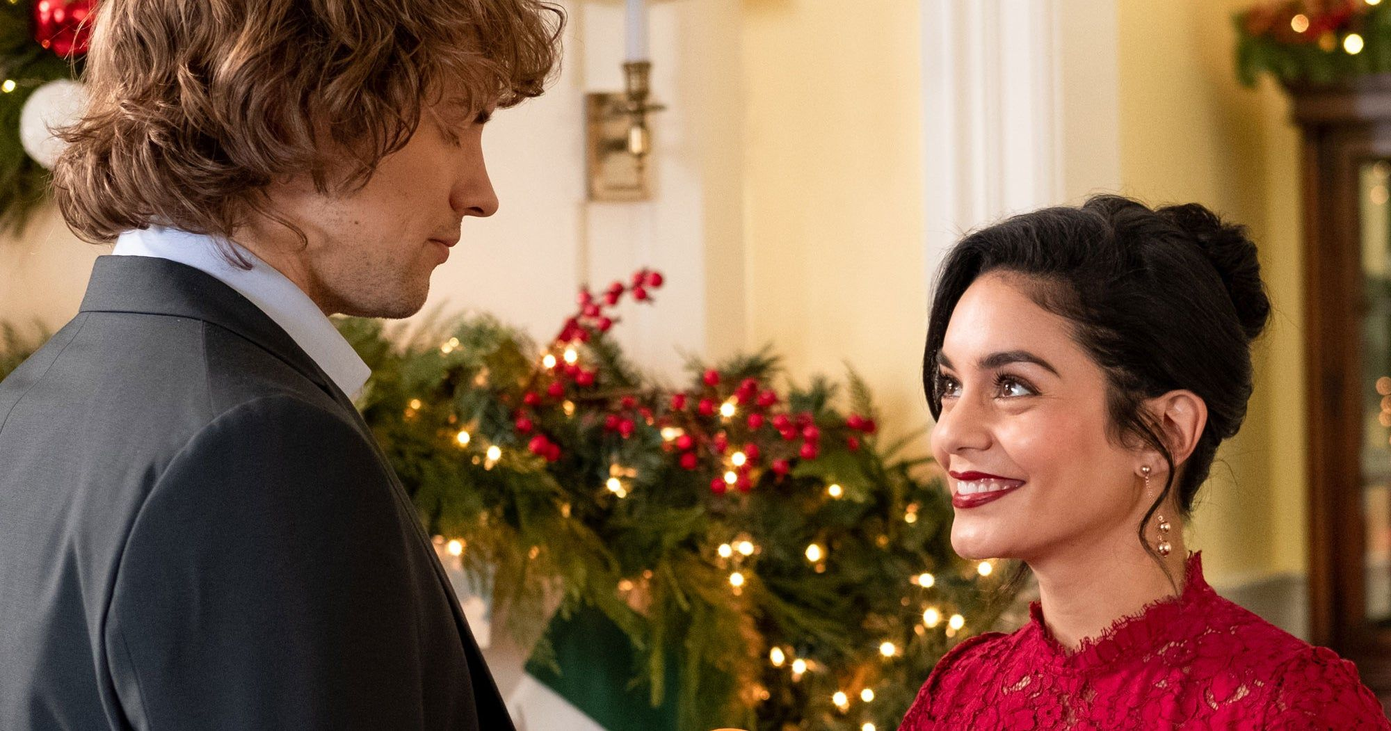 Vanessa Hudgens Says The Knight Before Christmas Is A Completely Different Holiday Rom Com The Knight Before Christmas Vanessa Hudgens Before Christmas