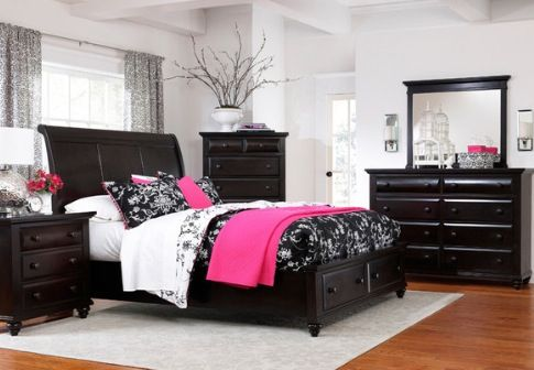 pink black white bedroom bedrooms black bedroom 16674 | 10626b33837c75117c115a052e51e824