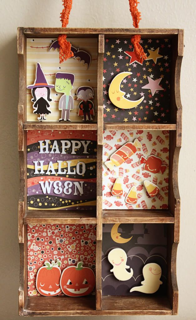 Turn a paper Tray into a cute Halloween Shelf decoration