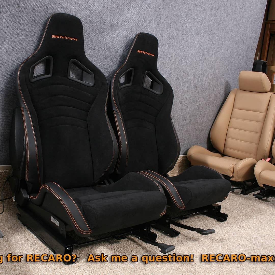 Recaro Bmw Performance Orange Stitching Black Seat Belt Slots Bmw Car Seats Recaro