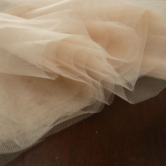 c4c9df5fd5 Skin Flesh Nude Coloured Tulle / fine net fabric | For the love of ...