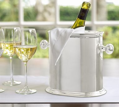 Hotel Silver Plated Double Wine Cooler Potterybarn New Year S Eve Party Themes Bar Glassware Small Wine Racks