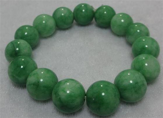 "Stunning Green Jade Jewelry Gems Gold Plated Bangle Bracelet 7.5"" AAA"