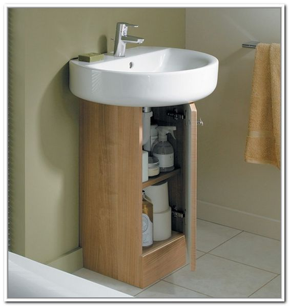 Under Sink Storage For Pedestal Sinks Home Design Ideas Camper