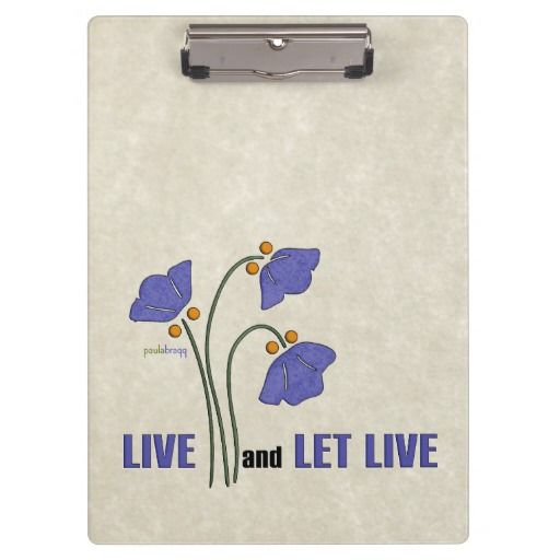Quote Express Custom Live And Let Live Recovery Quote Clipboard  Live And Let Live .