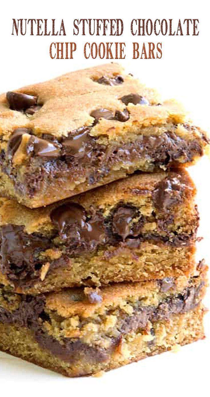 Nutella Gefüllte Schokoladenkeksriegel - #Gefüllte #Nutella #Schokoladenkeksriegel
