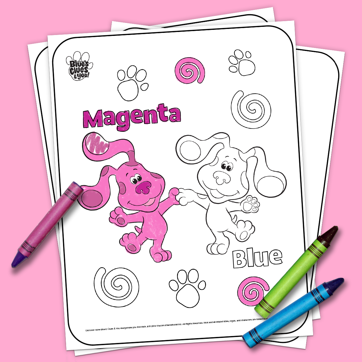Blue S Clues Amp You Printable Coloring Page In