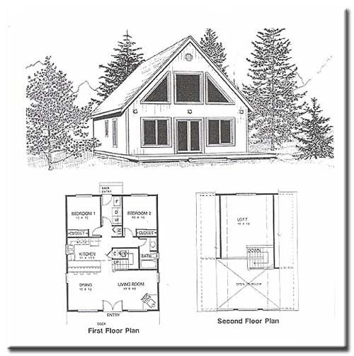 Small Homes That Use Lofts To Gain More Floor Space: Idaho Cedar Cabins/ Floor Plans