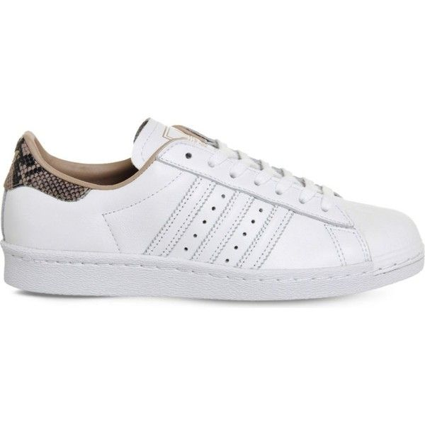 ADIDAS Superstar 80s leather trainers ($115) ❤ liked on