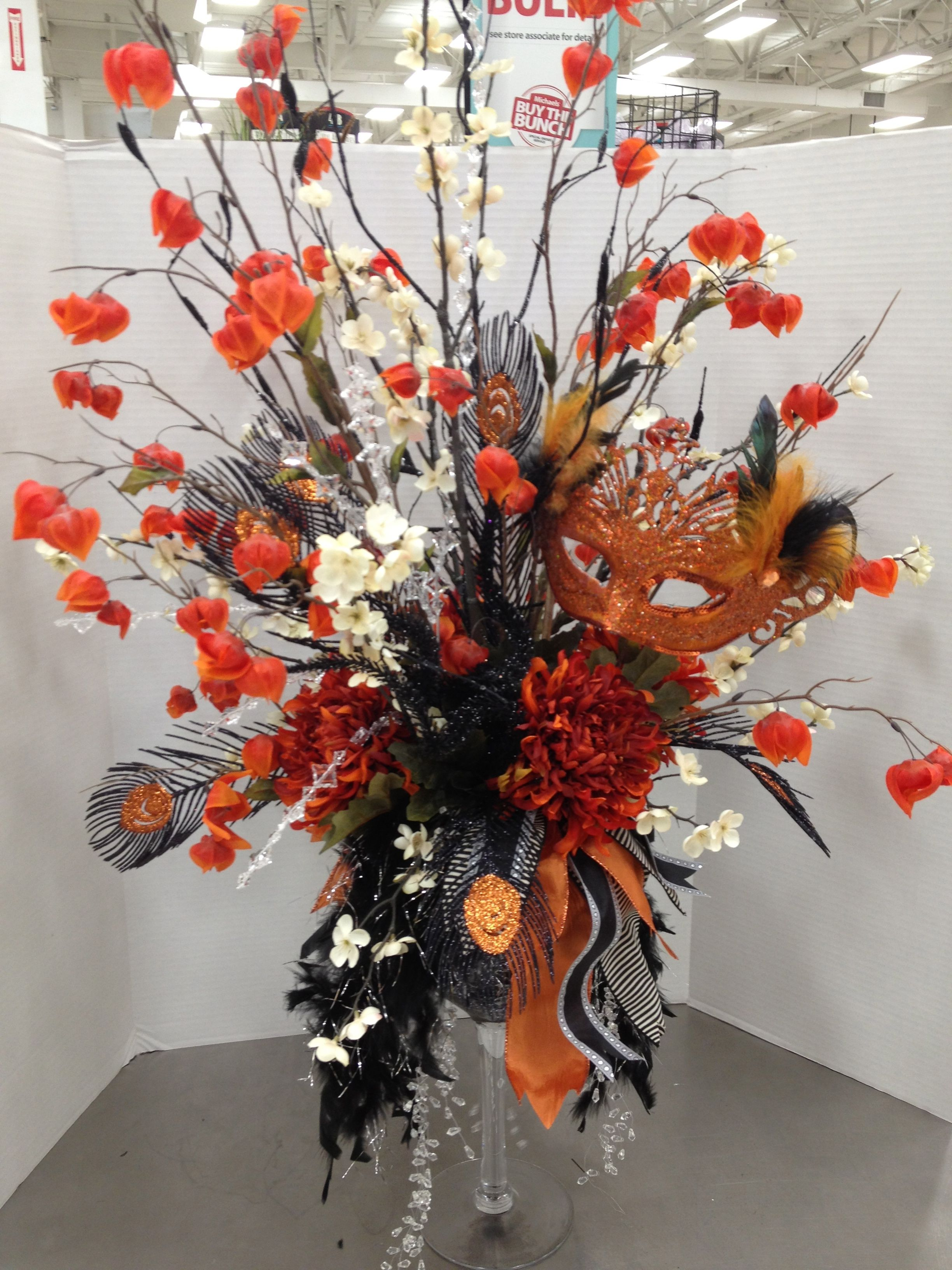 halloween traditions masquerade floral arrangement by christian rebollo - Christian Halloween Decorations