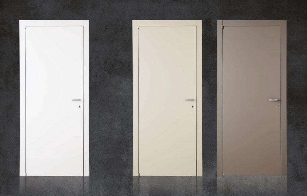 bologna porte interne lisce laccato bianco avorio marrone | Porte ...