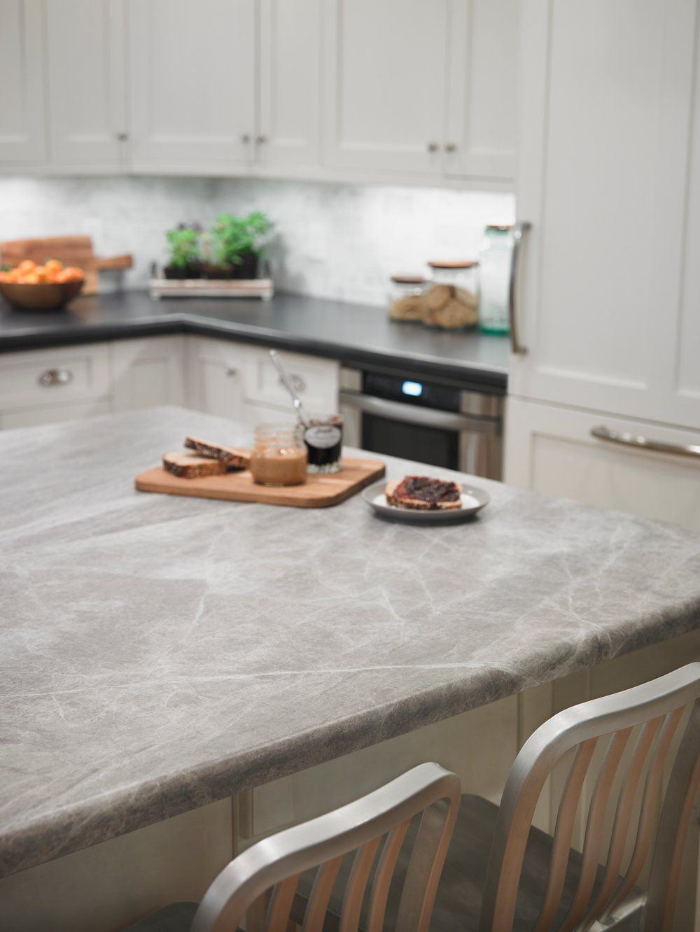 Picture Packing Your Kid S Lunches In This Serene Kitchen Featuring A Soapstone Kitchen Countertops Kitchen Countertops Laminate Replacing Kitchen Countertops