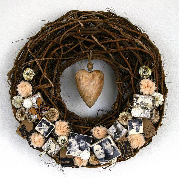 DIY photo wreath