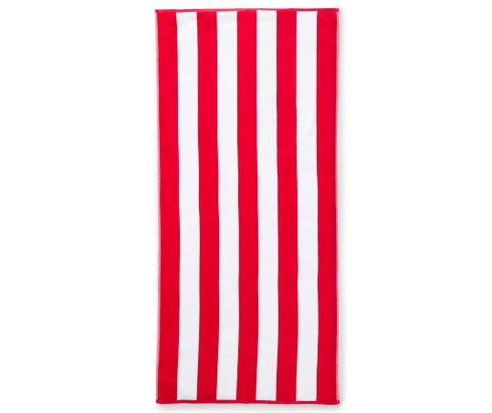 Red White Cabana Stripe Beach Towel 28 X 60 Striped Beach