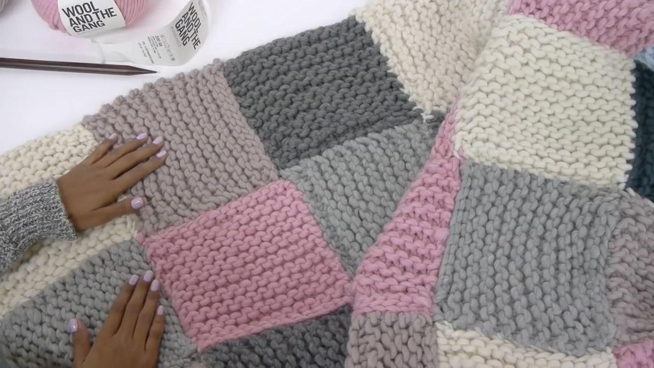 Image result for Knit blanket Knitted blanket squares