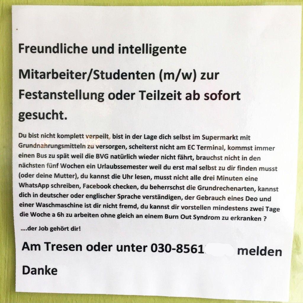traumjob berlin jobangebote studentenjobs arbeiten an der bar berlin jobgesuch minijob berlin. Black Bedroom Furniture Sets. Home Design Ideas