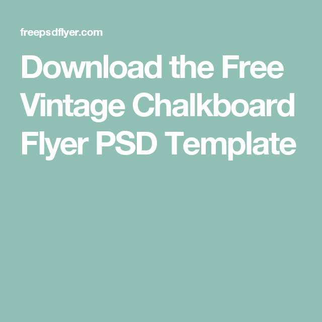 chalkboard flyer template free ecza productoseb co